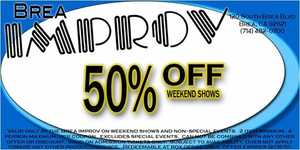 Save with Brea Improv tickets coupons plus get additional discounts on admission to local attractions in your area!