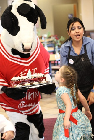 Chick-fil-a cow cake