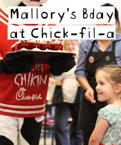 bday at Chick-fil-a