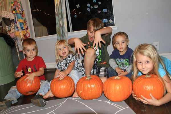 my five pumpkins