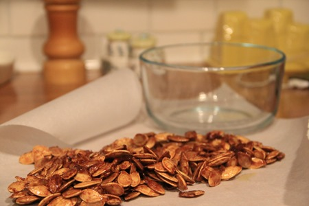 cooling sweet pumpkin seeds
