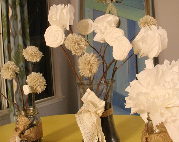 centerpiece with toilet paper