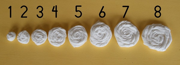 cottonelle square rosette sizes