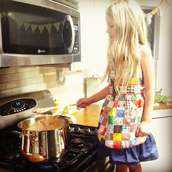 handmade apron from nana