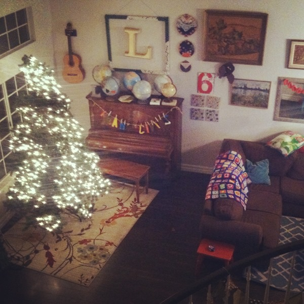 my xmas living room